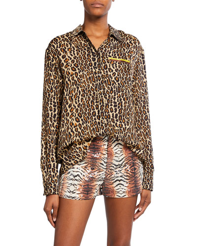Future Ex BF Leopard Button-Up Shirt