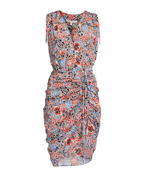 Soheyla Floral Ruched Mini Dress