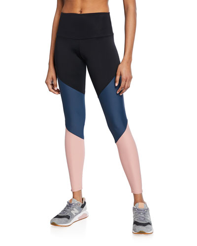 Colorblock High-Rise Track Leggings