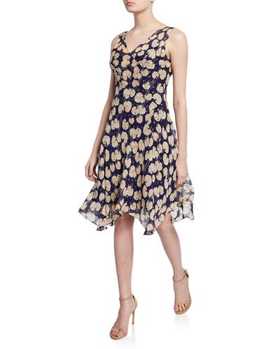 f0908c6eff3 Dita Printed Sleeveless Handkerchief Dress Quick Look. Diane von Furstenberg