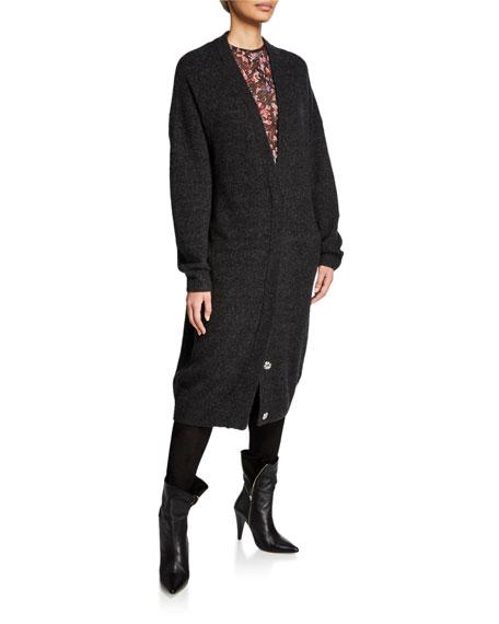Ashland Long Button-Front Cardigan