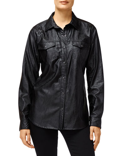 Perfect Faux-Leather Shirt