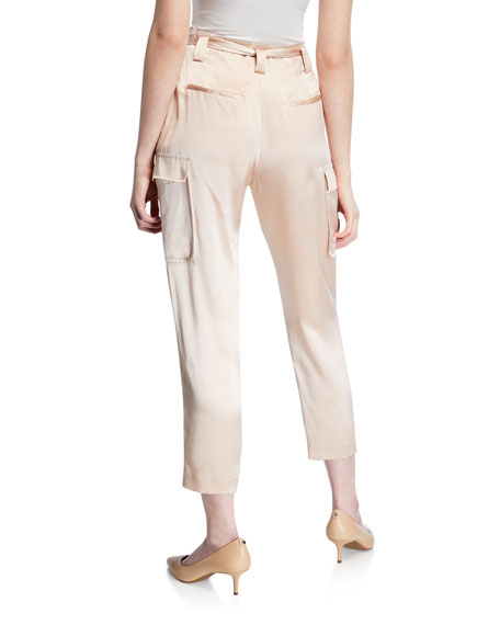 Roxy Paperbag Silk Cargo Pants