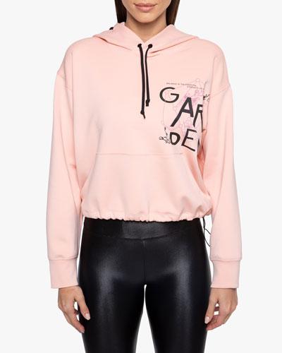 Aura Graphic Hooded Drawstring Sweatshirt