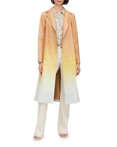 Avrielle Ombre Lambskin Leather Trench Coat