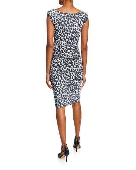 Egea Printed Cap-Sleeve Cocktail Dress