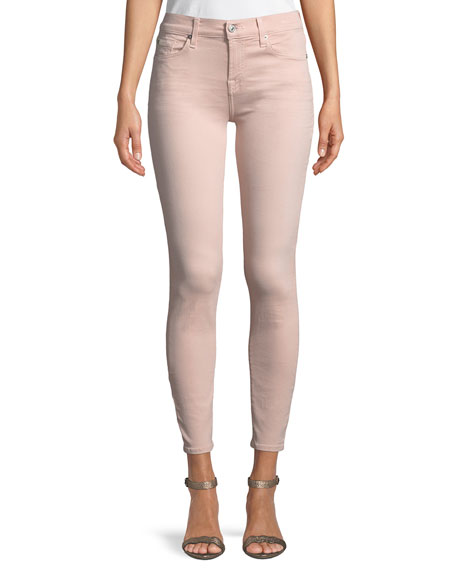 Image 1 of 1: The Ankle Skinny Coated Jeans