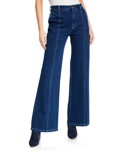 Flare-Leg Denim Pants