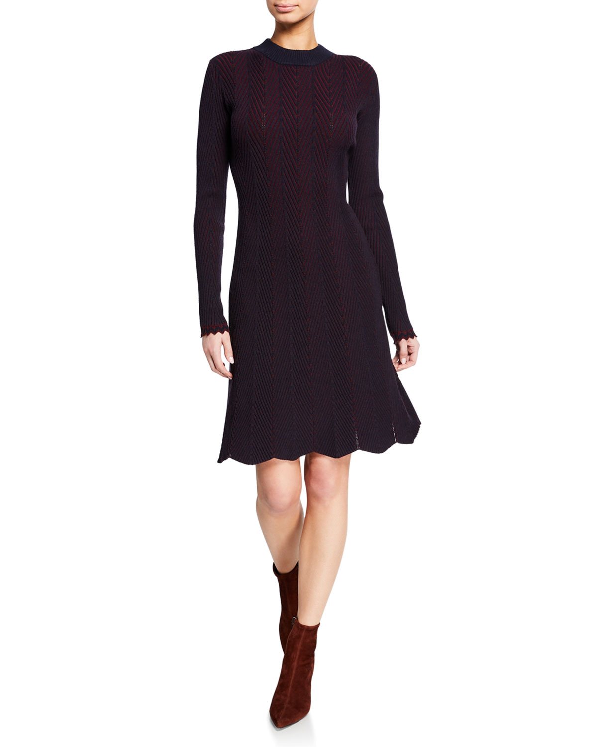 long-sleeve-crewneck-knit-dress by see-by-chloe