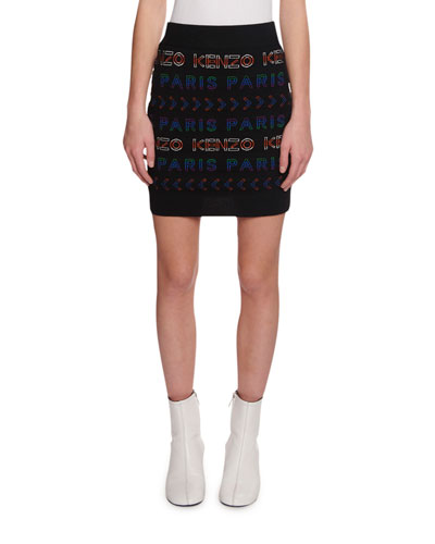 Allover Kenzo Paris Logo Tube Skirt