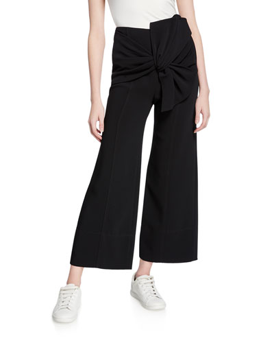 Connie Cropped Pants with Bow
