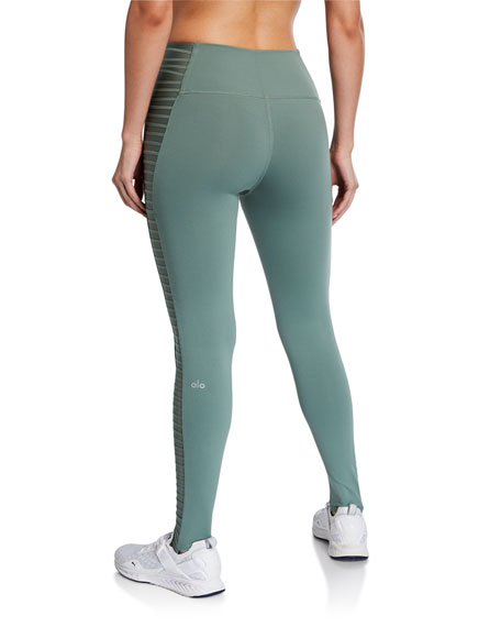 Prism High-Waist Active Leggings w/ Foot Bands