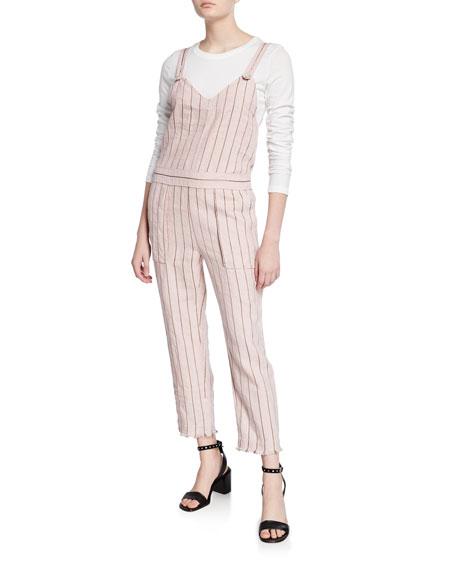 Nina Striped Linen Jumpsuit