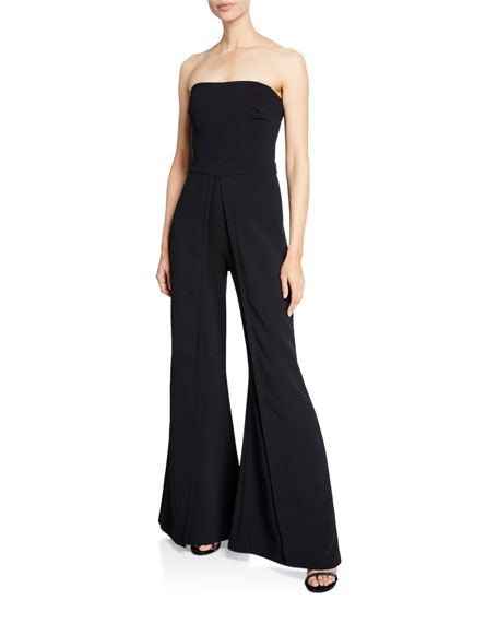 Image 1 of 1: Trista Strapless Flared-Leg Jumpsuit