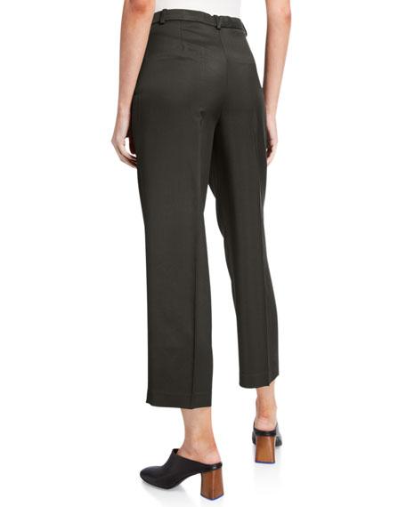 Sleek Twill Cropped Trousers