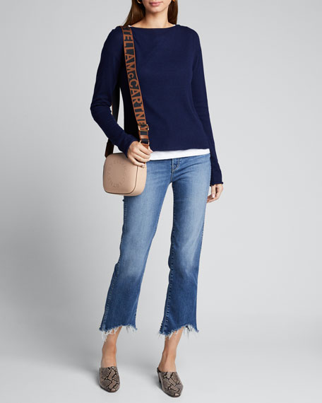 Image 1 of 1: Boat-Neck Long-Sleeve Layered Sweater