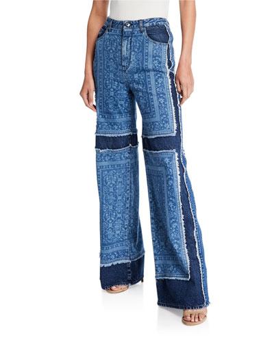 Patchwork Carpenter High-Rise Jeans