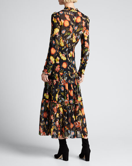 Sabryna Floral-Print Maxi Dress