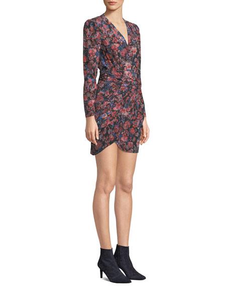 Fling V-Neck Long-Sleeve Tulip Dress