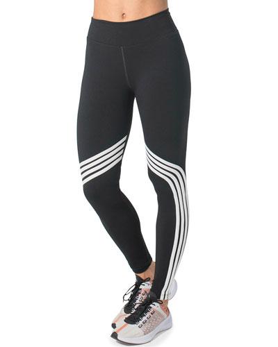 Gym and Tone It Striped High Waist Leggings