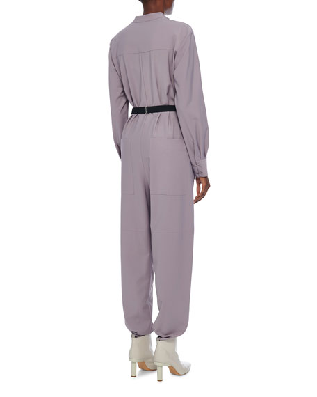 Double Layer Plainweave Jumpsuit