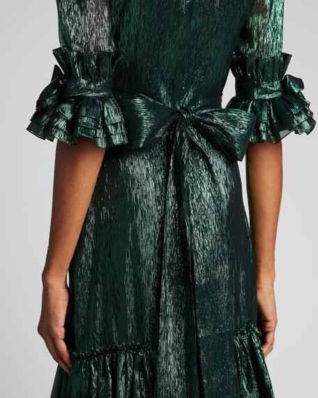 The Veneration Metallic Midi Dress