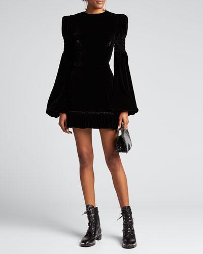 The Velvet Runaway Mini Dress