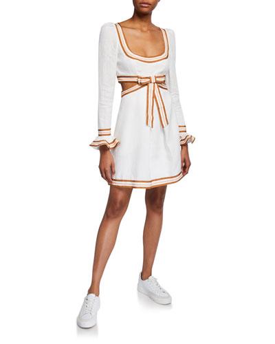 Super Eight Ribbon Mini Dress