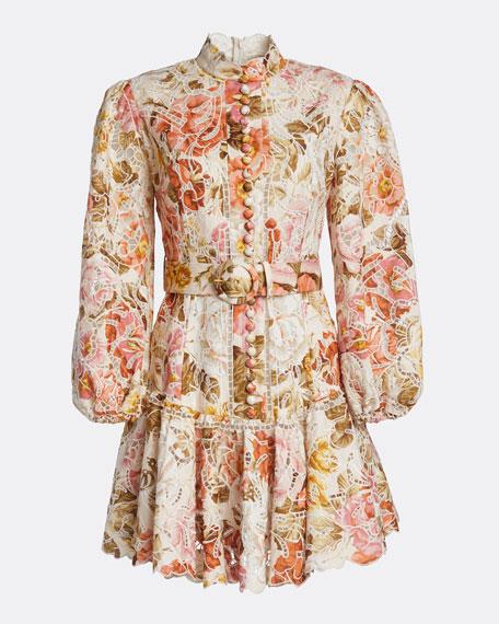 Bonita Embroidered Floral Short Dress