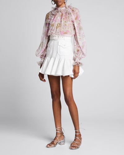Super Eight Linen Safari Skirt