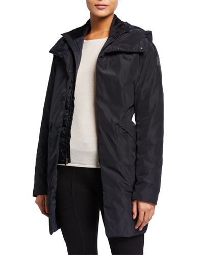 Unstoppable Hooded Down Parka Coat