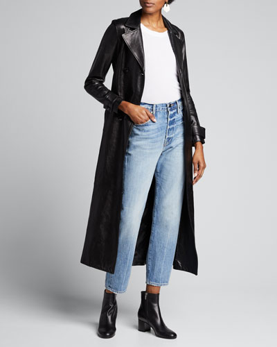 Le Sylvie High-Rise Straight Crop Jeans