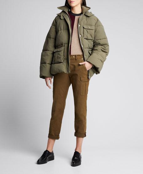 Heavy Tech Hooded Puffer Jacket by Ganni