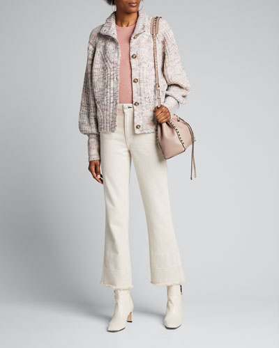 Griffith Button-Front Jacket w/ Contrast Back