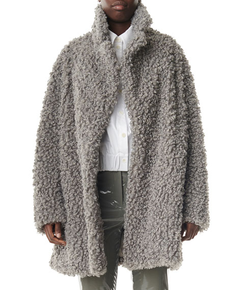 Faux Lamb Shearling Pea Coat