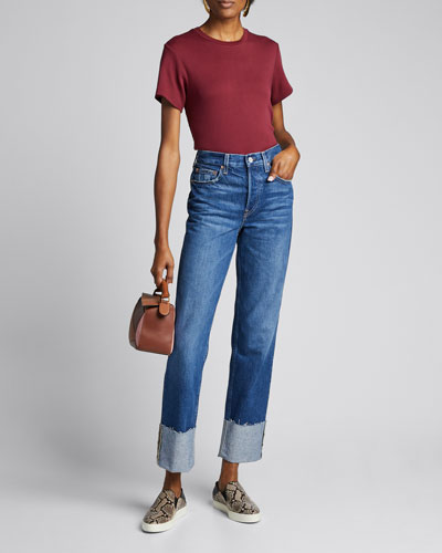 Berit Cuffed High-Rise Straight Jeans