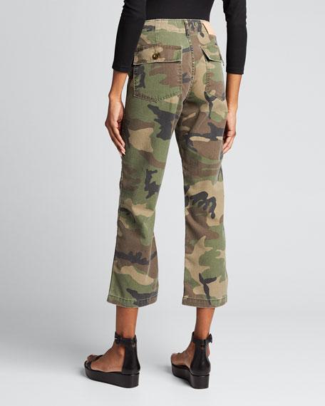 Gwen Camo-Pattern Ankle Pants