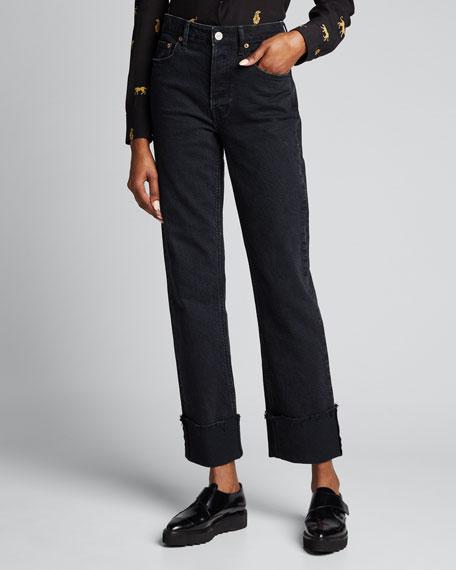 Berit Cuffed Straight-Leg Jeans