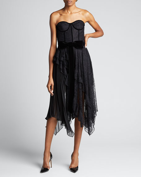 Bree Ruffle Pleated Handkerchief Dress