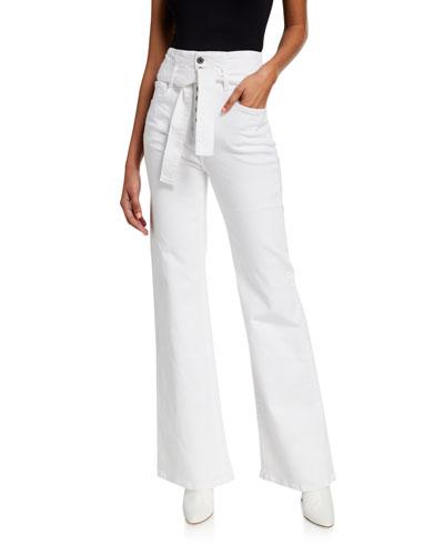 Rosanna Belted Wide-Leg Jeans