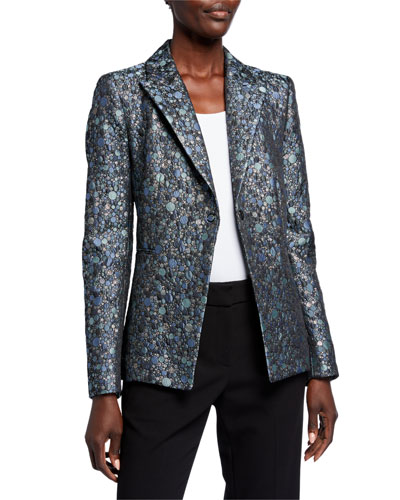 Limani Circular Jacquard One-Button Jacket
