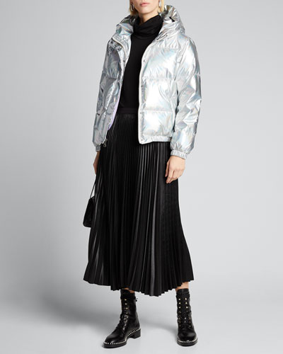 Durham Metallic Hooded Puffer Jacket