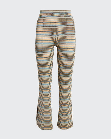 Melanie Mid-Rise Boot-Cut Pants