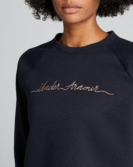 Crewneck Recovery Fleece Logo Script Sweatshirt