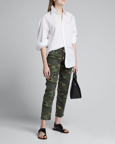 N. 61 Clean Straight-Leg Camo Trousers