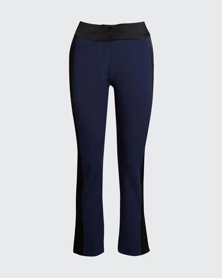 E-Cig Crepe-Satin Combo Pants