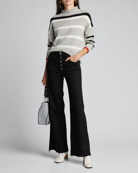 Striped Turtleneck Sweater by Sundry