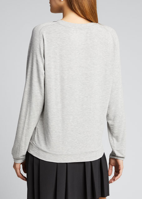 French-Terry Long-Sleeve Pullover