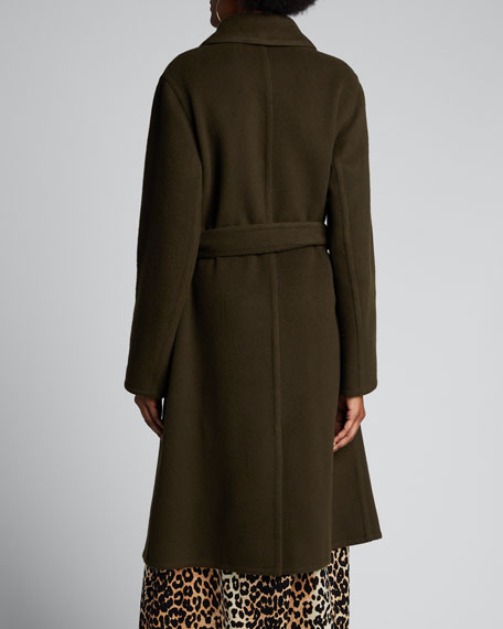 Patch Pocket Wool Long Coat