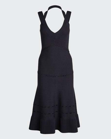 Betti Strappy V-Neck Midi Dress